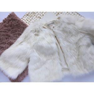 Gymboree Faux Fur Shawl Formal Fall Jacket Bolero
